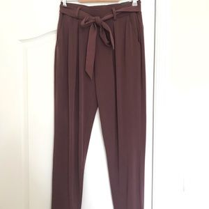 NWT Express Belted Soft Ankle Pant Size S